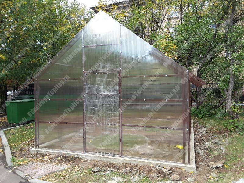 Пример покраски оцинкованных теплиц из поликарбоната от компании Удачные Теплицы